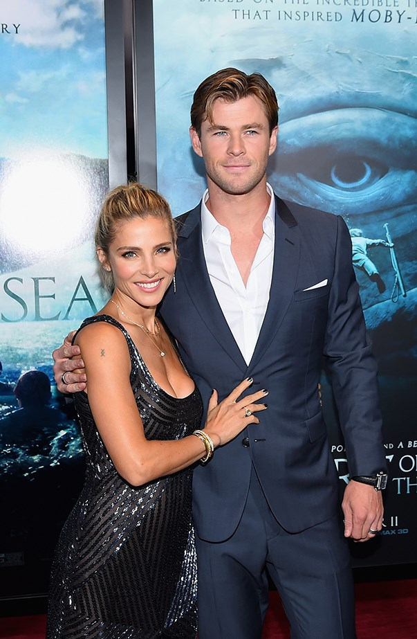 """<p>Chris always looks handsome when he steps out on a red carpet. He gives credit to Elsa for that. """"[Elsa] gives me confidence and makes me look good,"""" he told <a href=""""http://www.etonline.com/news/177592_chris_hemsworth_says_wife_elsa_pataky_gives_him_confidence_on_the_red_carpet/"""" target=""""_blank""""><em>Entertainment Tonight</em></a> at the premiere of <em>In the Heart of the Sea</em>. """"She tells me how to dress. She gets me ready for the red carpet."""""""