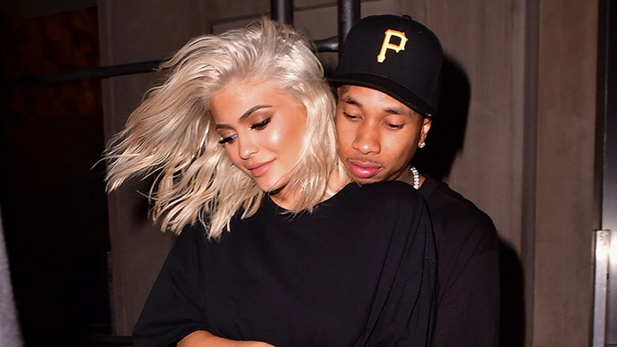 Kylie Jenner and Tyga Hugging In New York City