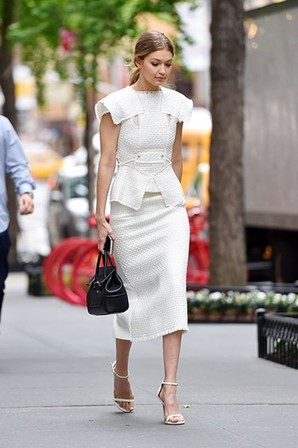 Gigi Hadid white dress