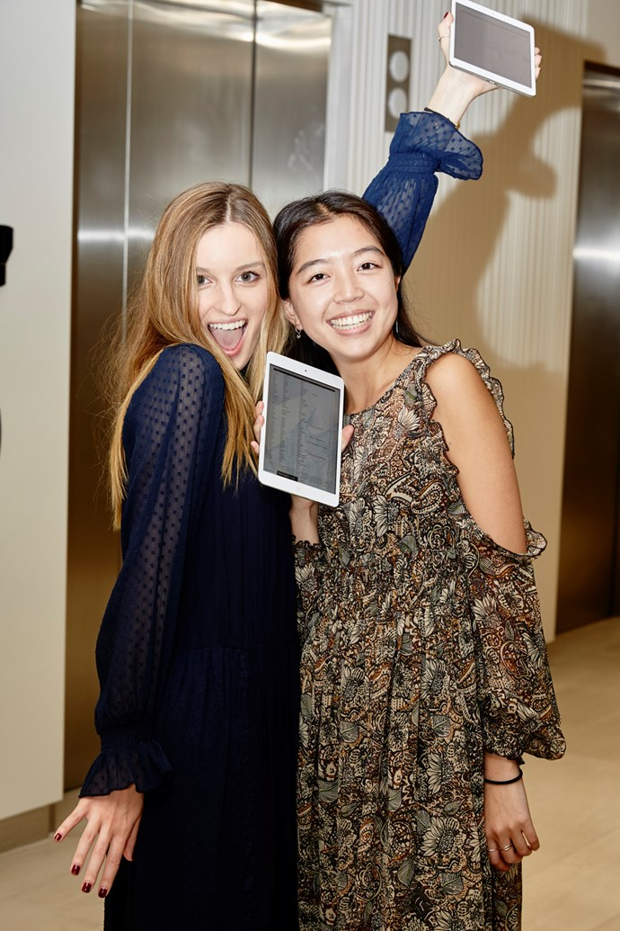 Market editor Claudia Jukic and fashion office coordinator Samantha Wong.