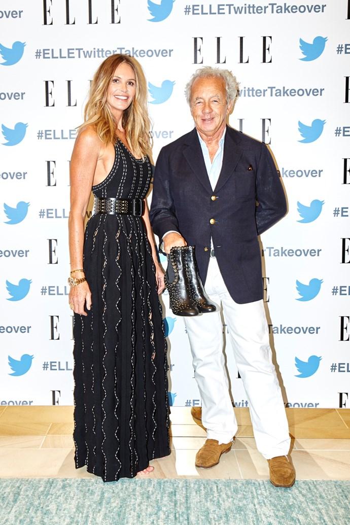 Elle MacPherson and Gilles Bensimon.