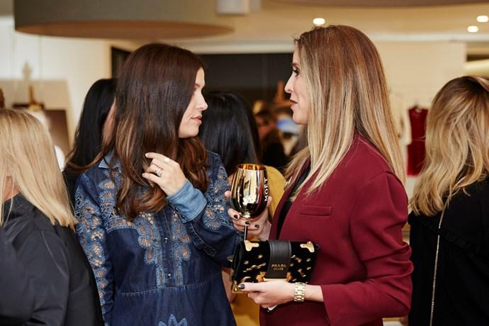 Fashion director Rachel Wayman with Amanda Shadforth of Oracle Fox.