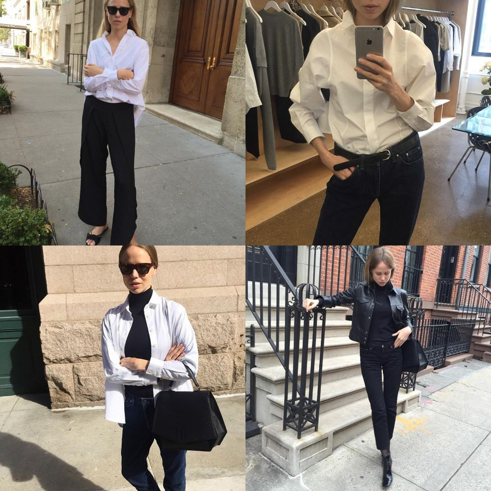 "<a href=""https://www.instagram.com/elinkling/"">@elinkling</a><br> Blogger Elin Kling's chic combinations of classic, office-friendly staples (such as the trusty white shirt) will give you endless inspiration."