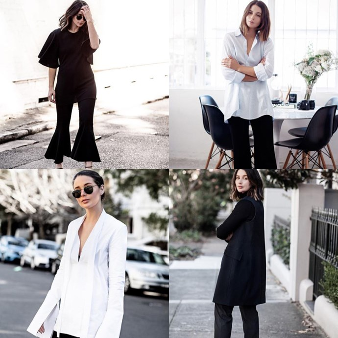 @harperandharley<br> Harper and Harley isn't strictly workwear-themed, but Sara Donaldson's chic, monochromatic aesthetic and on-trend style injections make for a professional wardrobe that's cooler than your average.
