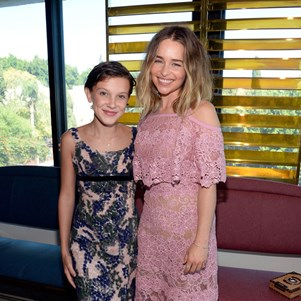 Millie Bobby Brown and Emilia Clarke at BAFTA LA Tea Party