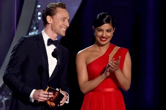 Tom Hiddleston Priyanka Chopra Emmys 2016
