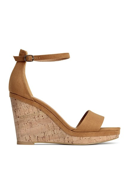 "Wedges are a must for race day comfort. <br><br>Wedge sandals, $34.95, <a href=""http://www.hm.com/au/product/42375?article=42375-B"">H&M</a>"