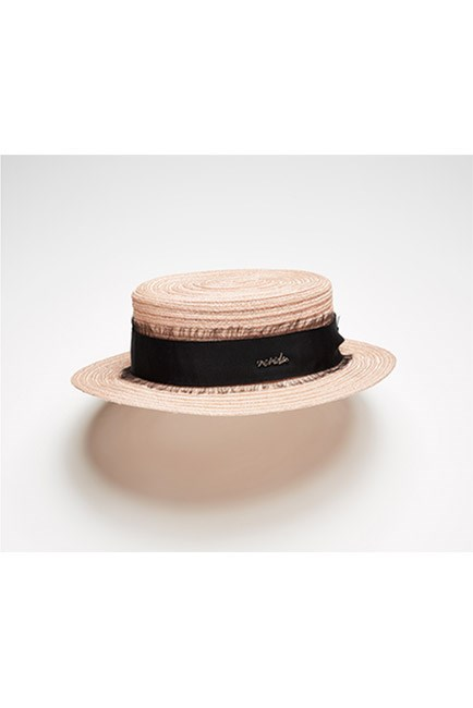 "If in doubt, you can't go wrong with a straw boater. <br><br>Hat, $220, <a href=""https://www.neridawinter.com/product/sweet-jane-3/"">Nerida Winter</a>"