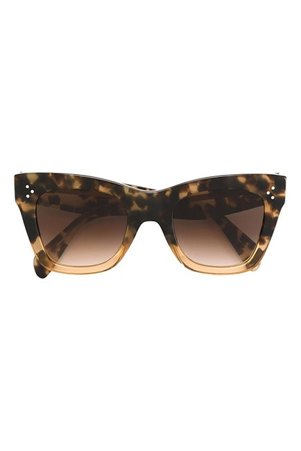"Cat-eye styles are effortlessly chic. <br><br>Sunglasses, $470, <a href=""https://www.farfetch.com/au/shopping/women/celine-eyewear-cat-eye-sunglasses-item-11493301.aspx?storeid=10155&from=listing&rnkdmnly=1&ffref=lp_pic_117_4_"">Celine at farfetch.com</a>"
