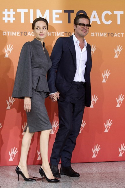 """""""I am very lucky with Brad. He is a real gentleman, but he is also a real man's man. He's got the wonderful balance of being an extraordinary, great, loving father, a very, very intelligent man, and, physically, he's a real man… in all things that it means,"""" Angelina told <a href=""""http://www.telegraph.co.uk/culture/film/8527090/Queen-of-Extremes-Angelina-Jolie.html"""">The Telegraph</a>."""