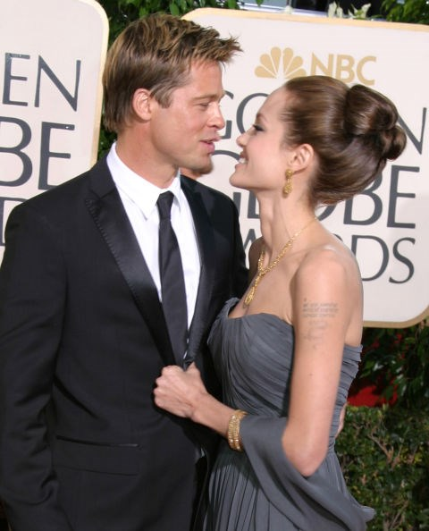 <p><strong>January 2007</strong><p> At the Golden Globe Awards.