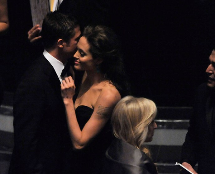 <p><strong>February 2009</strong><p> At the Academy Awards.