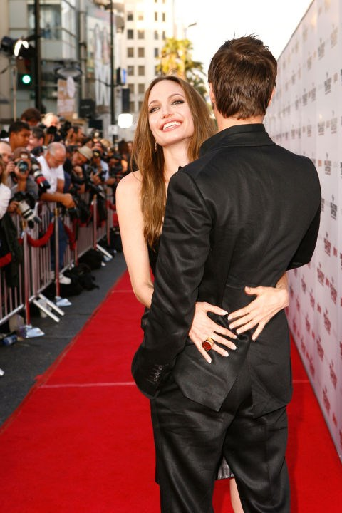 <p><strong>August 2009</strong><p> At the L.A. premiere of <em>Inglourious Basterds. </em>