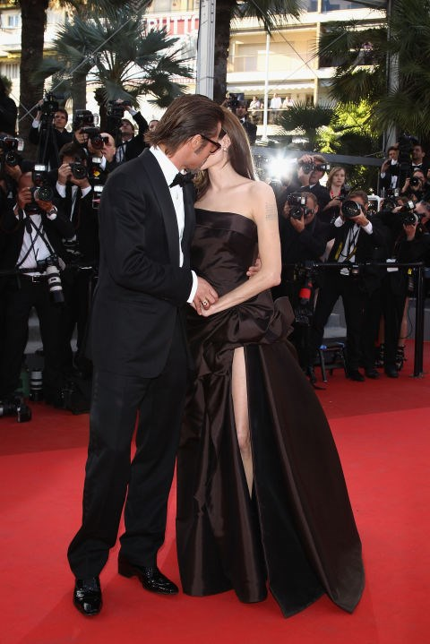 <p><strong>May 2011</strong><p> At the Tree of Life premiere at <em>Cannes Film Festival.</em>