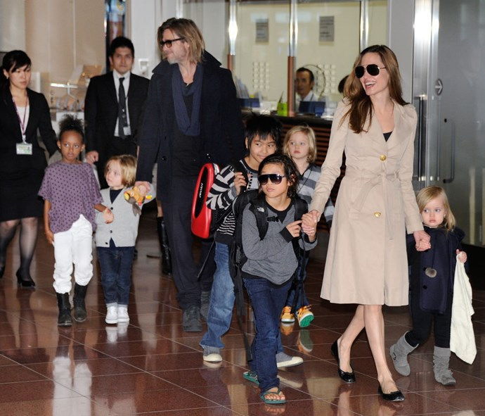 <p><strong>November 2011</strong><p> With their six children in Tokyo.