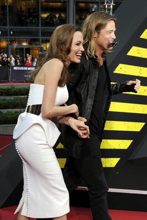 <p><strong>June 2013</strong><p> At the Berlin premiere of <em>World War Z.</em>