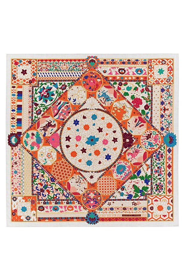 "<p>Whether you're tying it around your neck, fastening it to your bag or hiding your face from a nosy seat-neighbour, this scarf is a must-have investment—and a chic one at that.<p><br> <a href=""http://australia.hermes.com/la-maison-des-carres/chale-cachemire-70-cach-30-soie-140cm-collections-imperiales-83708.html"">Scarf, $1,805, Hermes</a>."