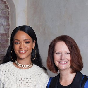 rihanna julia gillard work together