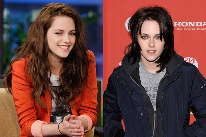 Similarly, Kristen Stewart sent her 'Twilight' fans for a spin when she cut her covetable brown locks into a black mullet for 'The Runaways'.