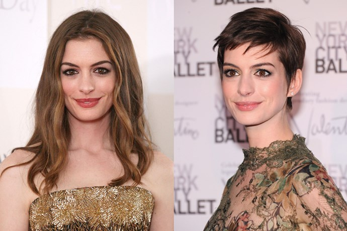 Anne Hathaway shaved her head for 'Les Miserables', but not for naught. She won an Oscar for her efforts.