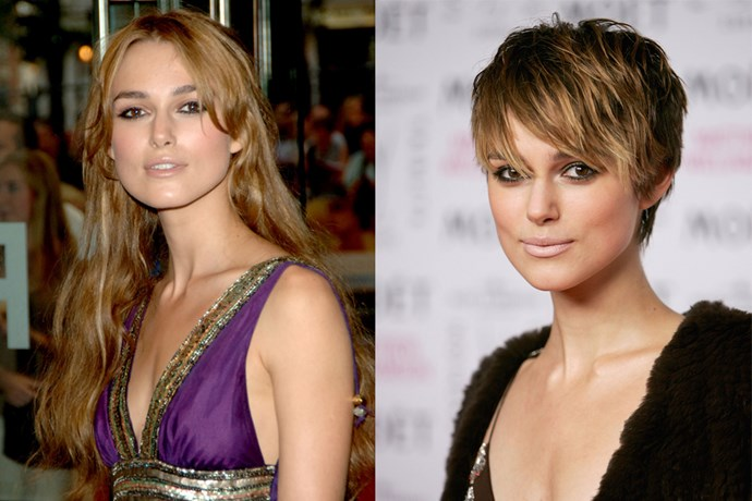Keira Knightley waved goodbye to Elizabeth Bennett and cut her long hair into this edgy pixie.