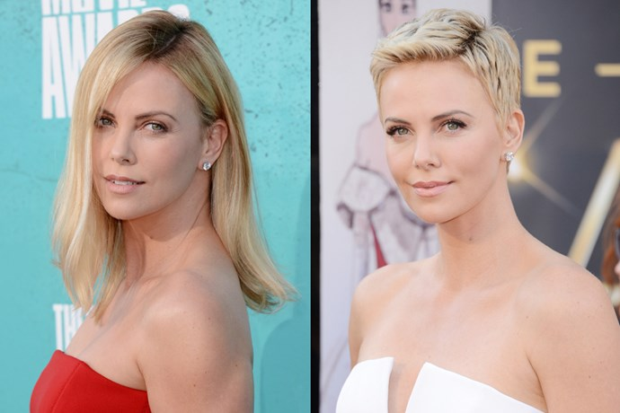 Charlize Theron shaved her head for her role in 'Mad Max: Fury Road'.