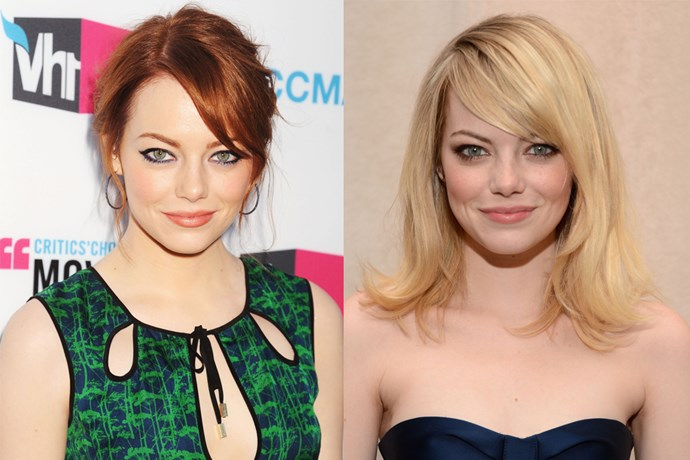 Emma Stone returned to her native blonde (yes, yes, we know) to play Gwen Stacy in 'Spiderman'.