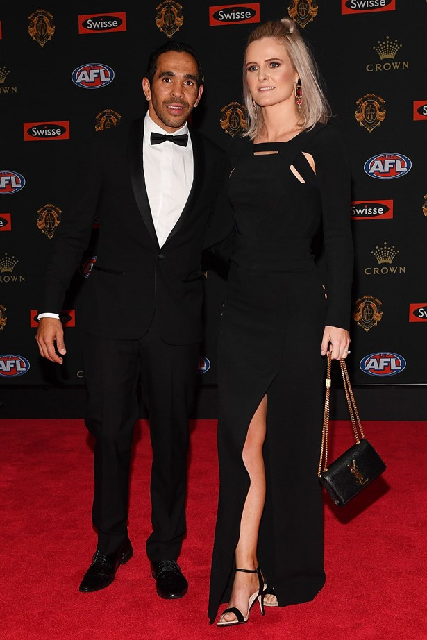 Eddie Betts and Anna Scullie.