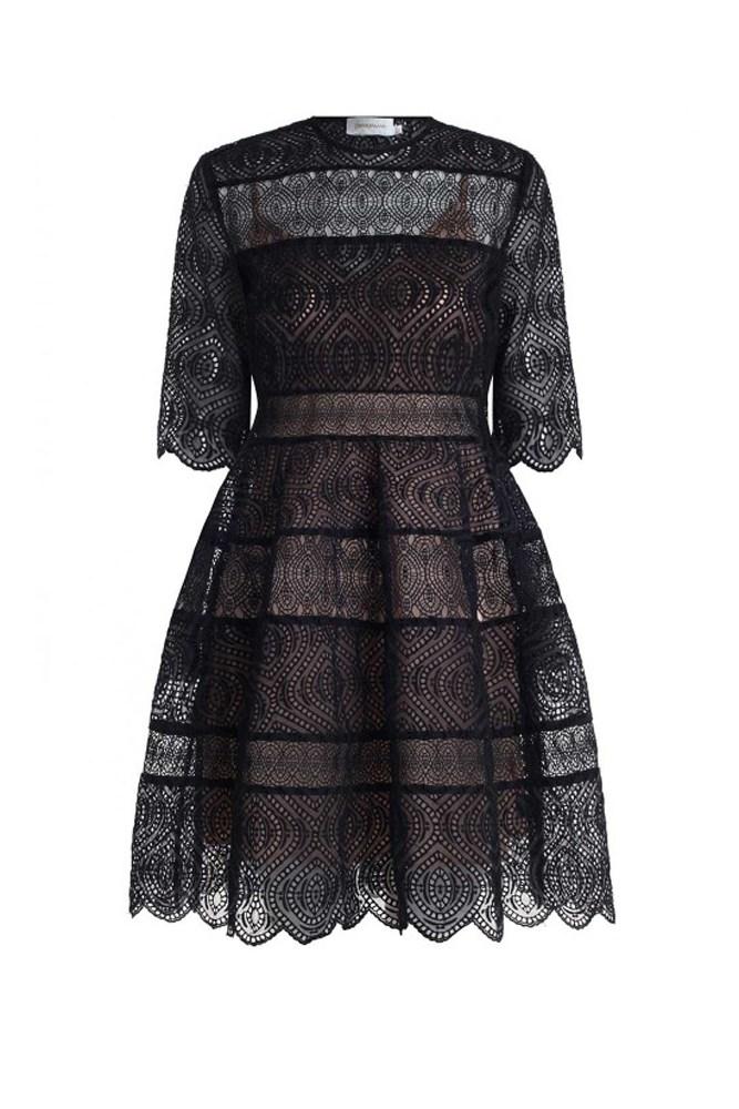 "<a href=""https://www.zimmermannwear.com/readytowear/clothing/dresses/lavish-embroidered-bell-dress-black.html"">Dress, $895, Zimmermann</a>"