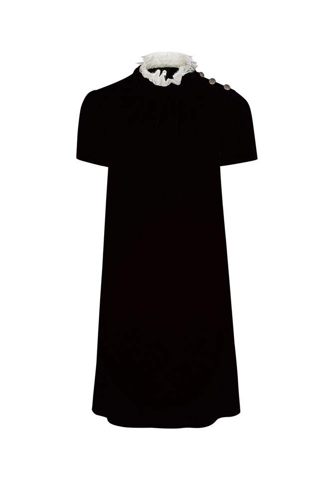 "<a href=""http://www.avenue32.com/uk/black-velvet-lace-collared-dress/PHL00116020341.html"">Dress, approx. $1092, Philosophy di Lorenzo Serafini at avenue32.com</a>"