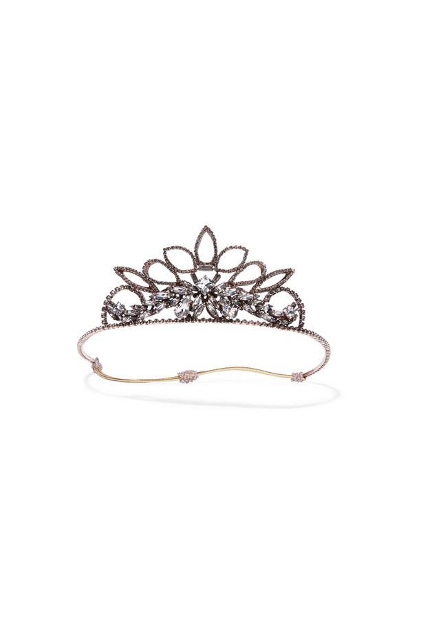 "<a href=""https://www.net-a-porter.com/au/en/product/758282/erickson_beamon/princess-rose-gold-plated-crystal-headband"">Headband, $1,822, Erickson Beamon at net-a-porter.com. </a>"