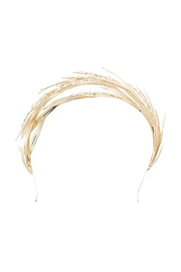 """<a href=""""https://www.farfetch.com/au/shopping/women/rosantica-pearl-embellished-headband--item-11550566.aspx?storeid=9089&from=listing&rnkdmnly=1&ffref=lp_pic_23_1_"""">Headband, $699, Rosantica at farfetch.com.</a>"""