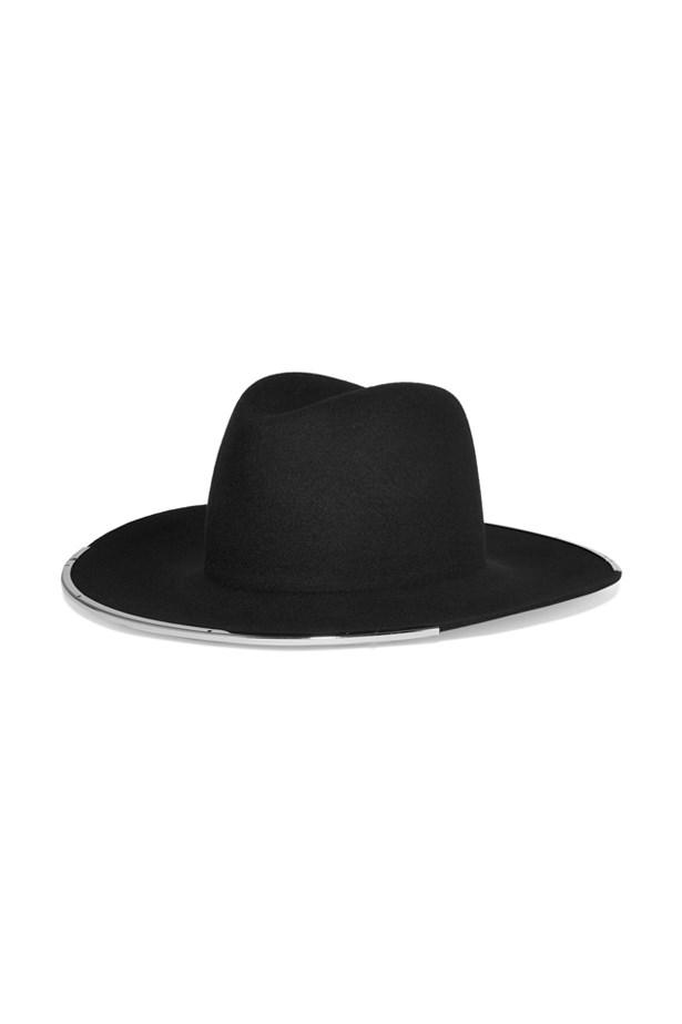 """<a href=""""https://www.net-a-porter.com/au/en/product/751966/janessa_leone/anita-wool-felt-fedora"""">Fedora, $254, Janessa Leone at net-a-porter.com.</a>"""