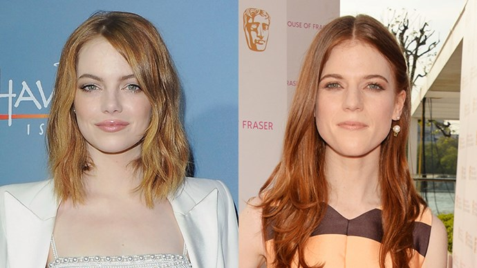<p>Emma Stone and Rose Leslie.