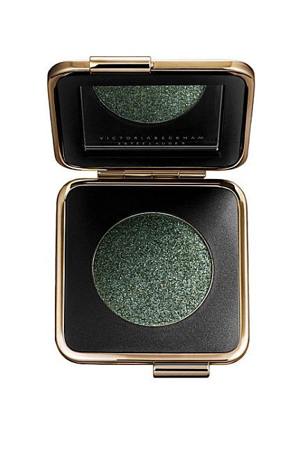 "The cult cosmetics collab for spring, wear this densely-pigmented emerald as a smoky shadow or apply it wet for a colourful winged eye. <br><br>Victoria Beckham Eye Metal in Charred Emerald, $72, <a href=""http://www.esteelauder.com.au/"">Estée Lauder</a> (available October 1)"