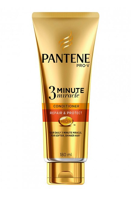 "If your hair is still recovering from the mixed messages of winter (cold air one minute, boiling hot heaters the next) try this damage-repairing daily conditioner. It smooths frizzy hair, ups shine and will be a lifesaver protecting against sun and UV damage in the summer. <br><br>Pantene Pro-V 3 Minute Miracle Conditioner Repair & Protect, $7.99, <a href=""https://www.priceline.com.au/pantene-pro-v-3-minute-miracle-conditioner-repair-protect-180-ml"">Pantene</a>"