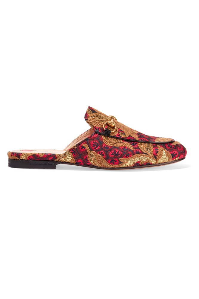 "<a href=""https://www.net-a-porter.com/au/en/product/754230"">Slippers, $775, Gucci at net-a-porter.com</a>"