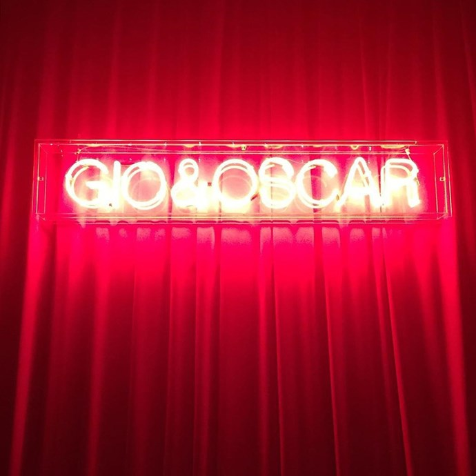 A namesake neon sign from the wedding of Giovanna (nee Battaglia) and Oscar Engelbert