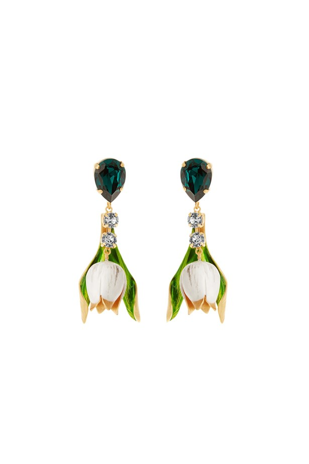 "Earrings, $853, Dolce & Gabbana at <a href=""http://www.matchesfashion.com/au/products/Dolce-%26-Gabbana-Citta-multicoloured-drop-earrings%09-1058302"">matchesfashion.com</a>."