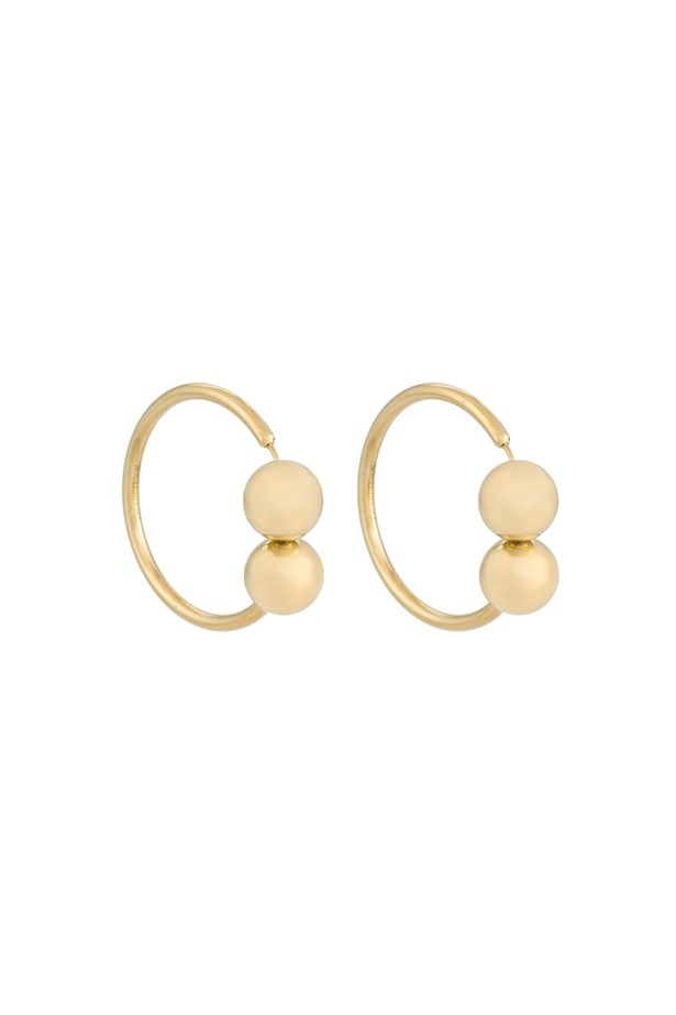 "Earrings, $408, <a href=""https://www.farfetch.com/au/shopping/women/j-w-anderson-torque-style-earring-item-11566780.aspx?storeid=9359&from=listing&rnkdmnly=1&ffref=lp_pic_110_17_"">J.W.Anderson at farfetch.com</a>."
