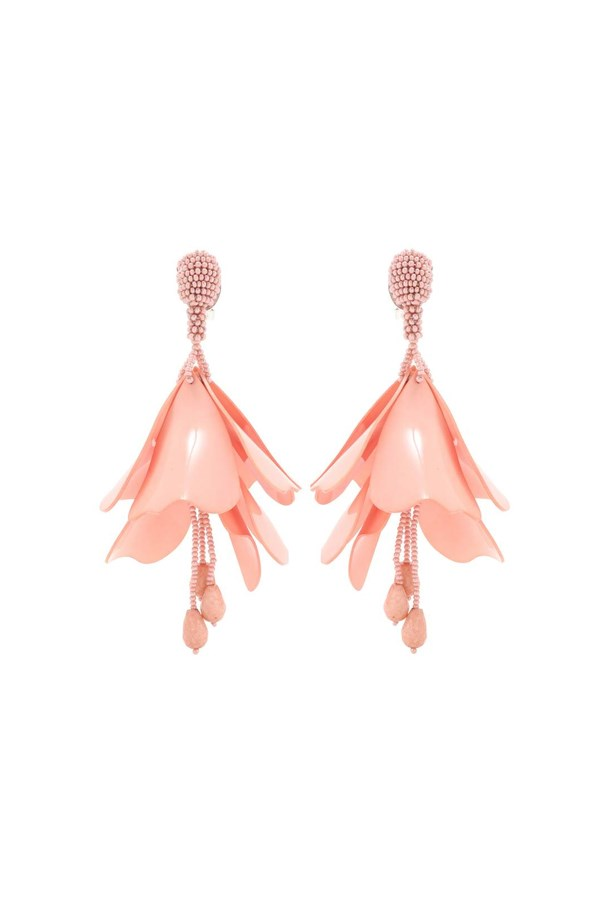 "Earrings, $669, <a href=""http://www.mytheresa.com/en-au/impatiens-flower-drop-beaded-clip-on-earrings-597185.html?catref=category"">Oscar de la Renta at mytheresa.com</a>."