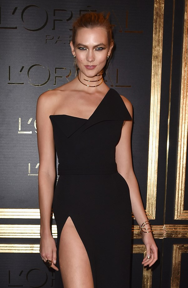 Karlie Kloss at L'Oreal Gold Obsession Party in Paris