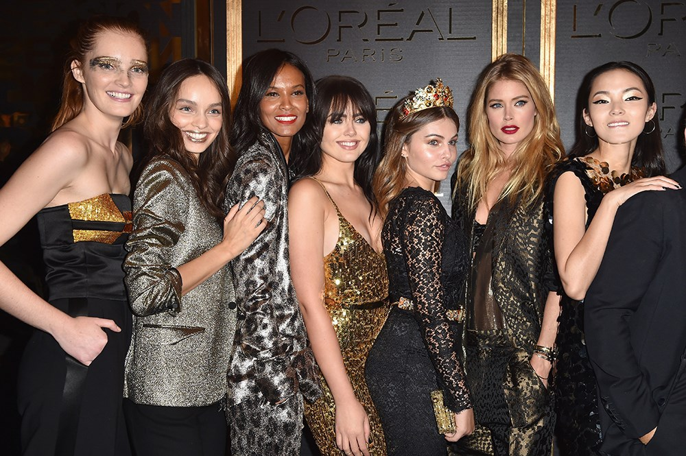 <p>See all the model and celebrity style from the L'Oréal Gold Obsession party at Paris Fashion Week.