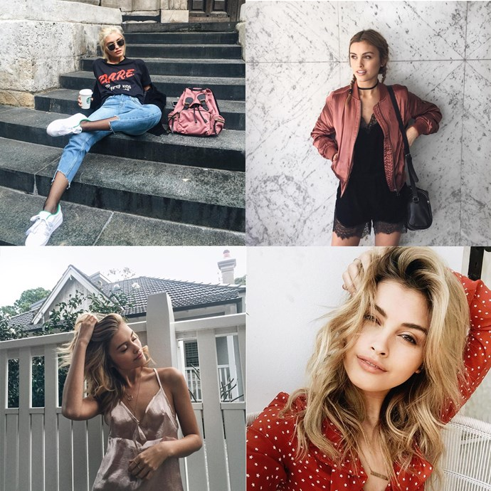 """<p> Name: Sarah Ellen / <a href=""""https://www.instagram.com/sarah3llen/?hl=en"""">@sarah3llen</a><p> <p> Follower count: 938,000<p> <p> Known for: Her fashion obsession, sweet accessories and cool-girl hair."""