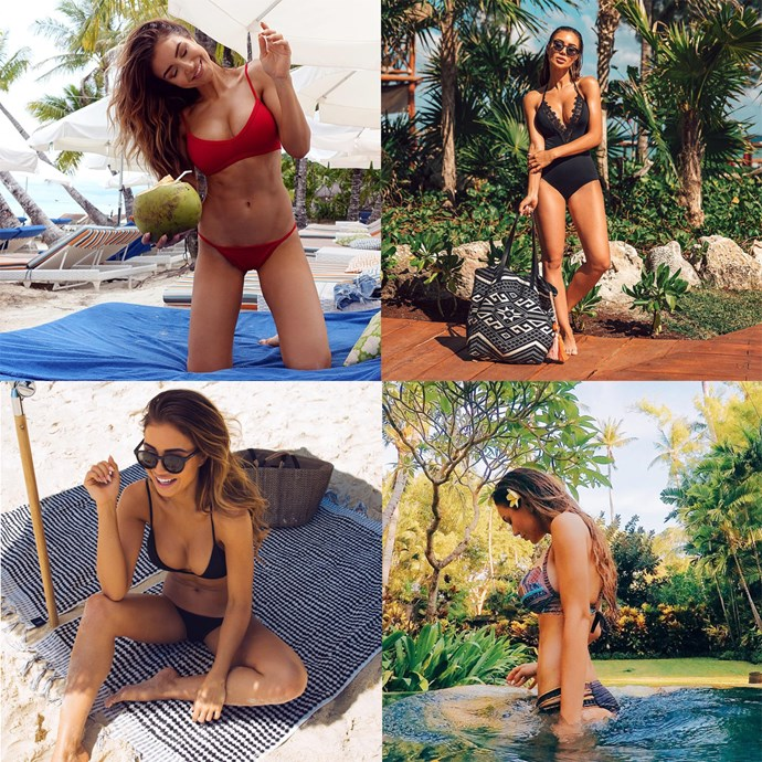 """<p> Name: Pia Muehlenbeck / <a href=""""https://www.instagram.com/piamuehlenbeck/?hl=en"""">@piamuehlenbeck</a><p> <p> Follower count: 1,300,000<p> <p> Known for: A killer rig and her own luxury sportswear line."""