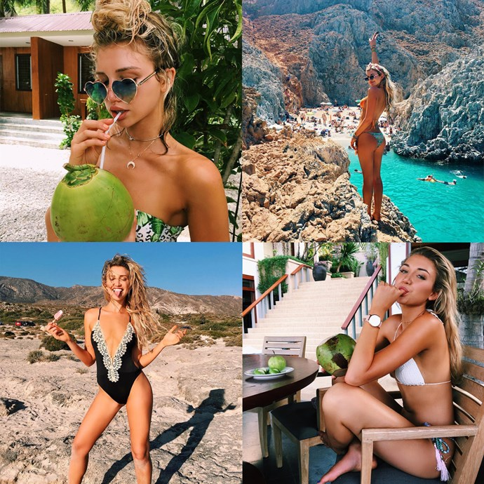 """<p> Name: Gabrielle Grace Epstein / <a href=""""https://www.instagram.com/gabbyepstein/ """">@gabbyepstein </a><p> <p> Follower count: 1,500,000<p> <p> Known for: Her awe-inspiring travel itinerary and her always beach-perfect hair."""