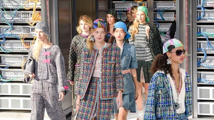 chanel paris fashion week ss17 grand palais data center chanel karl lagerfeld