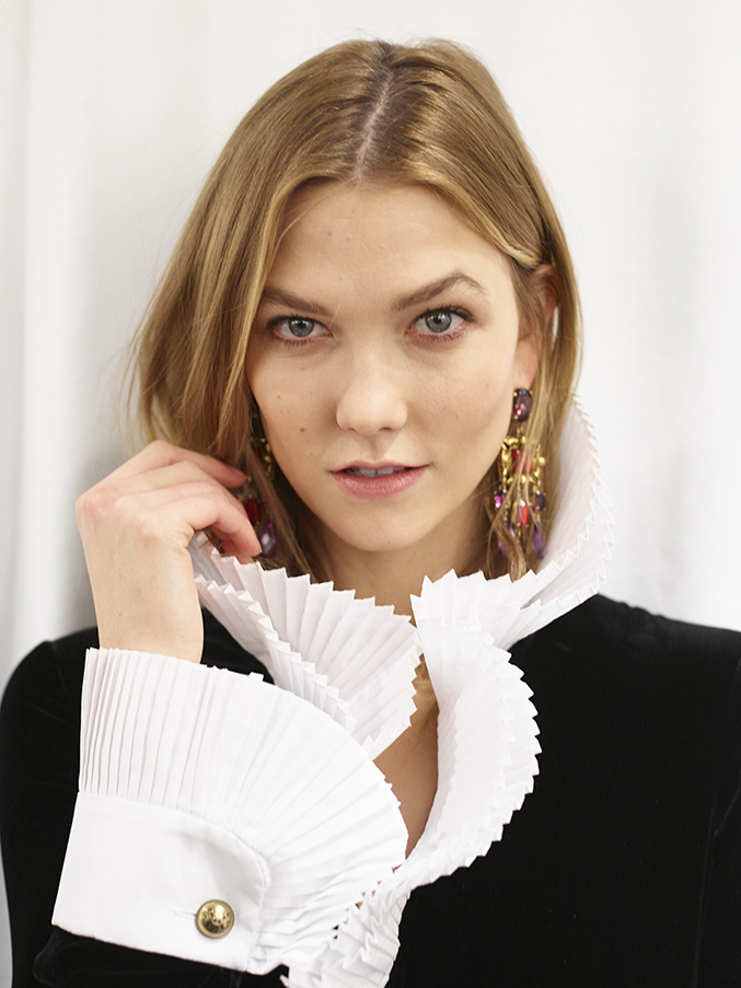 Karlie Kloss Backstage at Ralph Lauren