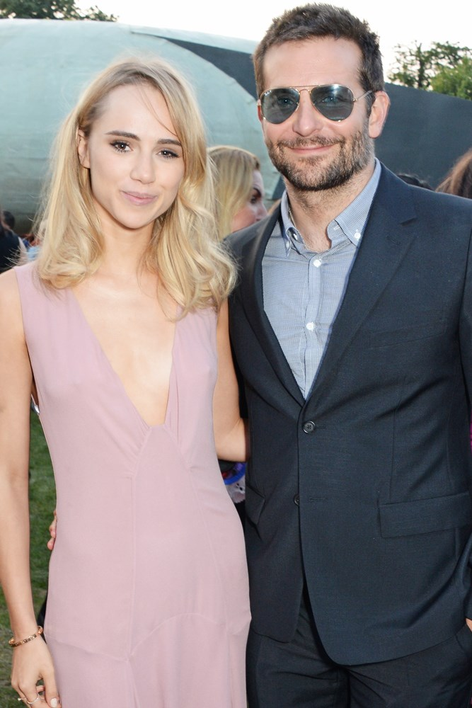 "<strong>Suki Waterhouse and Bradley Cooper</strong><br> Though now split, the two had a pretty fun-sounding first meeting. ""I met Bradley in London... We were introduced and hit it off almost immediately,"" recalled Suki. ""We were dancing at an after-party and he asked me if I fancied going to a club. We went to Cirque Le Soir in London—and he's a ridiculously good dancer, yes."""