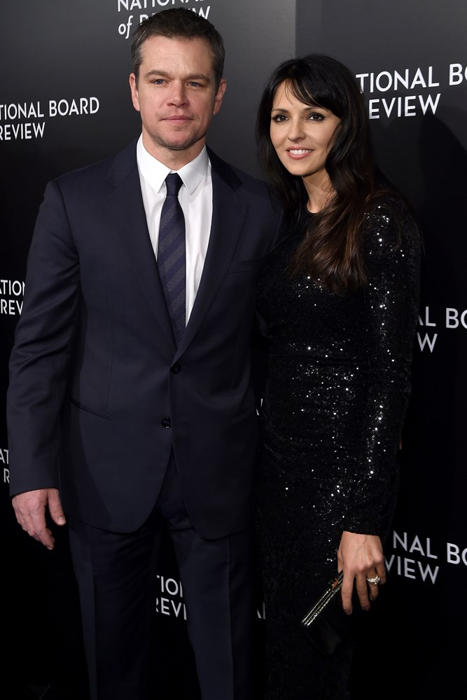 <strong>Matt Damon and Luciana Barroso</strong><br> While filming <em>Stuck On You</em> in 2003, Damon's co-stars dragged him to a bar in Miami Beach, where Barroso was working as a bartender. Damon has said he fell in love with her the moment he saw her.